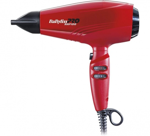 BAB7000IRE Фен BaByliss PRO 2200W ULTRALIGHT RAPIDO RED фото 1