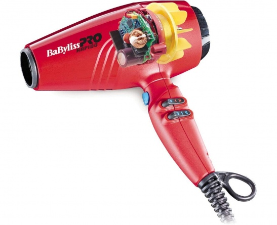 BAB7000IRE Фен BaByliss PRO 2200W ULTRALIGHT RAPIDO RED фото 2